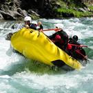 Actividades acuáticas en el río Noguera Pallaresa