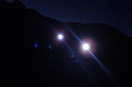 Nocturna y luna llena en Montgarri