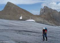 Glaciar Lombard y Aiguilles d´Arves detrás.