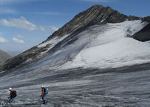 Bajando por el glaciar Lombard.