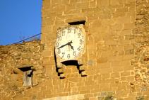 Detalle del reloj de Sant Esteve.