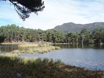 El camino que bordea el lago pasa muy cerca del agua.