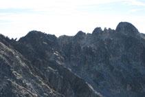Aguja Norte de Malavesina, Aguja Sur de Malavesina y Comaloforno.