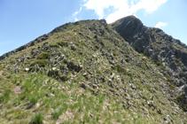 Último tramo del ascenso al Bony de la Pica.