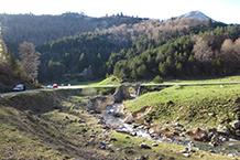 Llegando a la carretera de Zuriza a Linza.