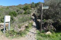 Desvío del camino antiguo al Cabo de Creus.