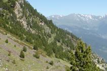La ladera inclinada por dónde transcurre el camino de los Certeresos.
