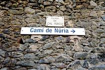 Indicaciones del Camino Viejo de Queralbs a Núria.