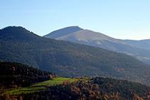 Vistas hacia el Puig Cornador y el Taga.