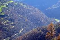 Vistas al fondo del valle del Freser.