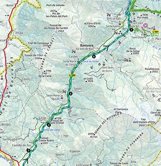 Caldes De Boi Mapa.El Camino Del Agua En La Alta Ribagorza Rutas Pirineos