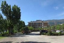 Exteriores del Hotel Terradets, punto de inicio de la ruta.