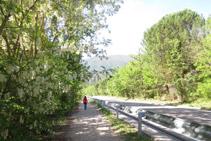 Andamos por el camino que avanza en paralelo a la carretera C-13.