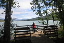 """Mirador del campamento """"El Pago"""", un punto con buenas vistas del pantano de Terradets."""