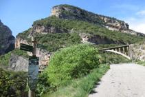 Cartel informativo de la ruta del Barranc del Bosc.