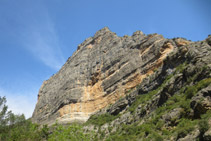 Roca Regina, más de 300m de pared vertical.