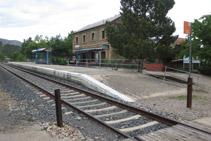Estación de tren de Cellers (línea Lleida - La Pobla de Segur).