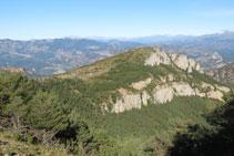 Riscos debajo de la cima del Montpedrós.