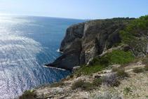 Extremo oriental del Cap de Norfeu desde la Punta de la Trona.