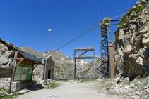 Estación superior del teleférico de la Vall Fosca.