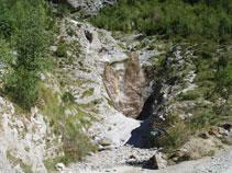 Barranco de la Vispeta, que más arriba recibe el nombre de barranco de Montaspro.