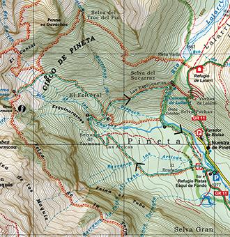 Valle De Pineta Mapa.Cascadas Del Cinca Y De Lalarri En Pineta Rutas Pirineos