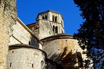 Detalle del monasterio de Sant Pere de Galligants.