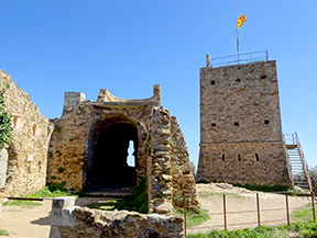 El castillo de Sant Miquel desde Gerona