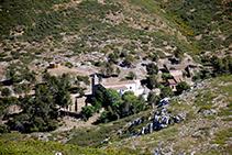 La ermita de Santa Caterina vista desde el castillo.