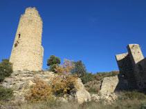 Torre central (16m) y torre semicircular.