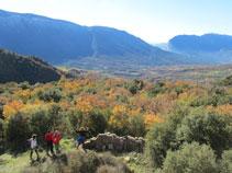 Bonitas vistas del valle de Barcedana junto al Montsec.