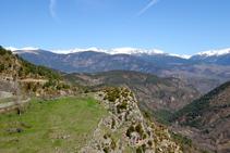 Vistas del norte de la Cerdaña desde el castillo del Quer.