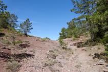 Tierras rojizas en la vertiente norte del Tossal del Quer.