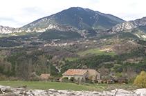 Vista panorámica de Vallcebre y de la sierra de Ensija.