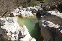 Pozas en el arroyo de Vallcebre.