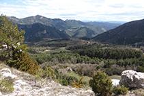 Vistas hacia el S desde encima de Cal Sastre.