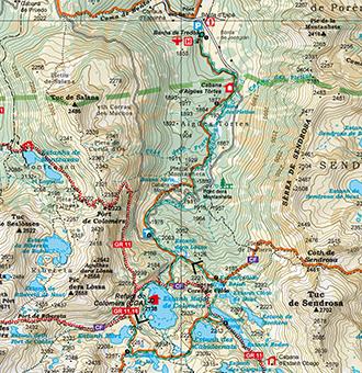 Turistico Valle De Aran Mapa.Circo Y Lagos De Colomers Valle De Aran Rutas Pirineos