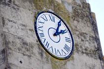 El reloj de la iglesia de Sant Pere.