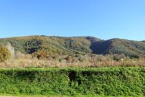 La sierra del Corb desde Les Preses.
