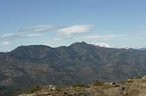 Vistas de la Montaña de Verdera y el Canigó.