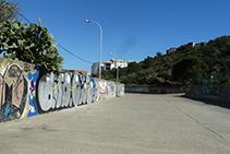 Cauce de Sa Riera junto a la depuradora de aguas residuales de Cadaqués.