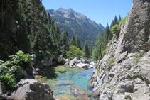 Zona de aguas tranquilas del río Caldarés.