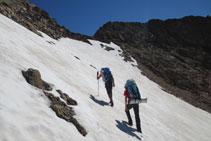 Llegando al pico Arnales.