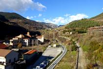 Vistes del valle de Ribes desde el castillo de Sant Pere.