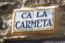 Ca la Carmeta, saliendo del Serrat hacia a Fustanyà.
