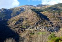 Vistas de las laderas del Puigmal camino a Fustanyà.