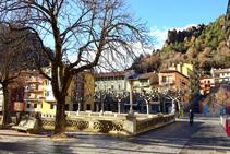 Plaza del Mercat de Ribes de Freser.