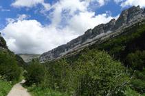 Camino del valle de Ordesa.