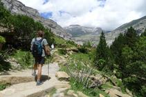 Entramos en la parte alta del valle de Ordesa.