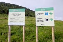 Paneles del Parque Natural del Alto Pirineo.